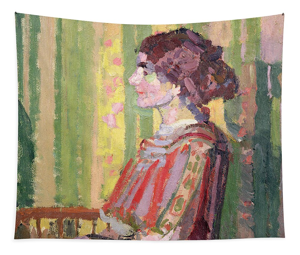 Xyc111981 Tapestry featuring the photograph Mrs Robert Bevan by Harold Gilman
