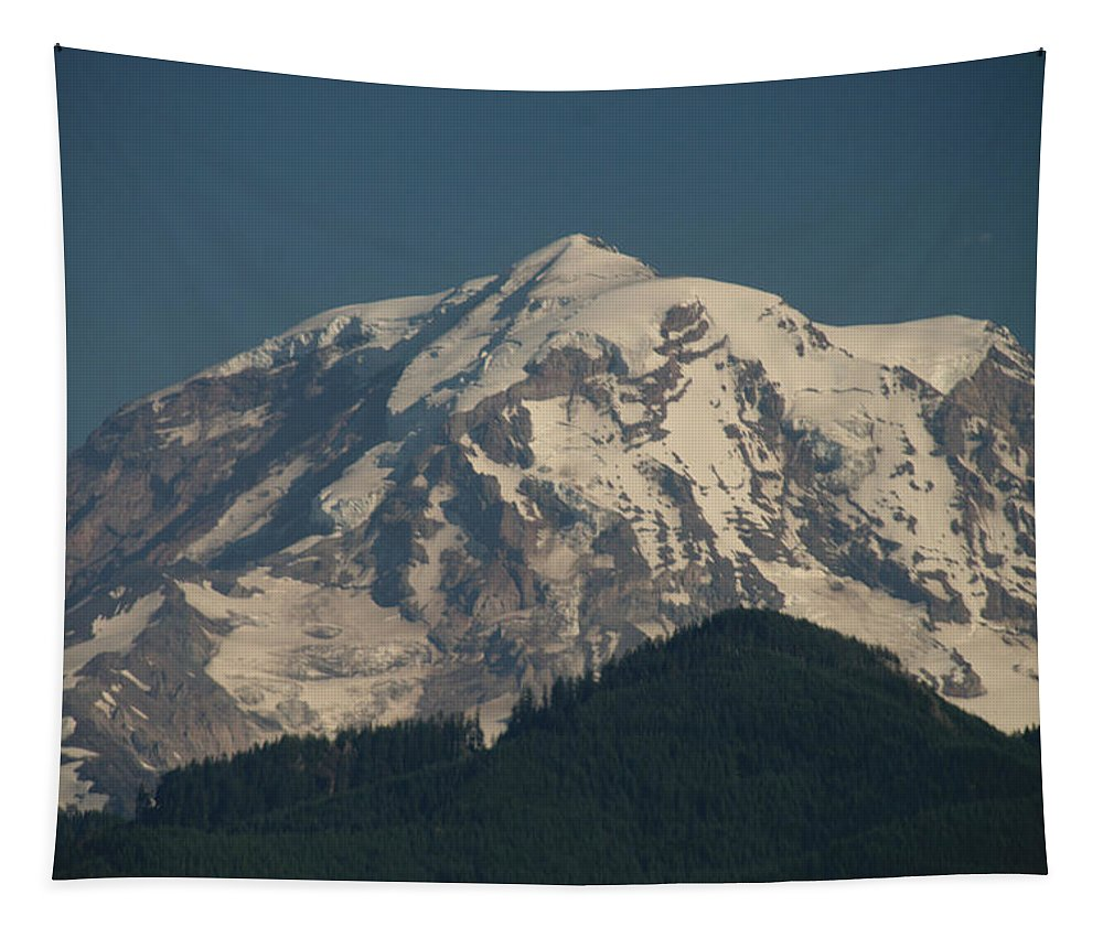 Rainier Tapestry featuring the photograph Mt Rainier by Michael Merry