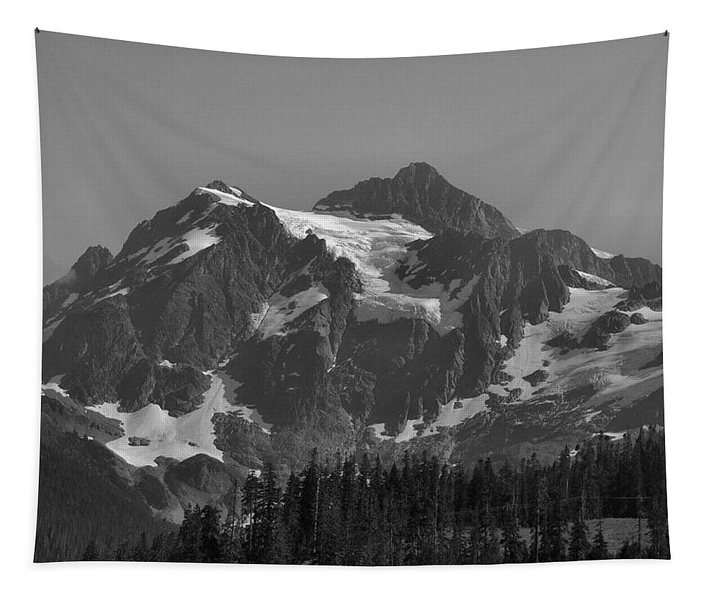 Shuksan Tapestry featuring the photograph Mt. Shuksan by Michael Merry