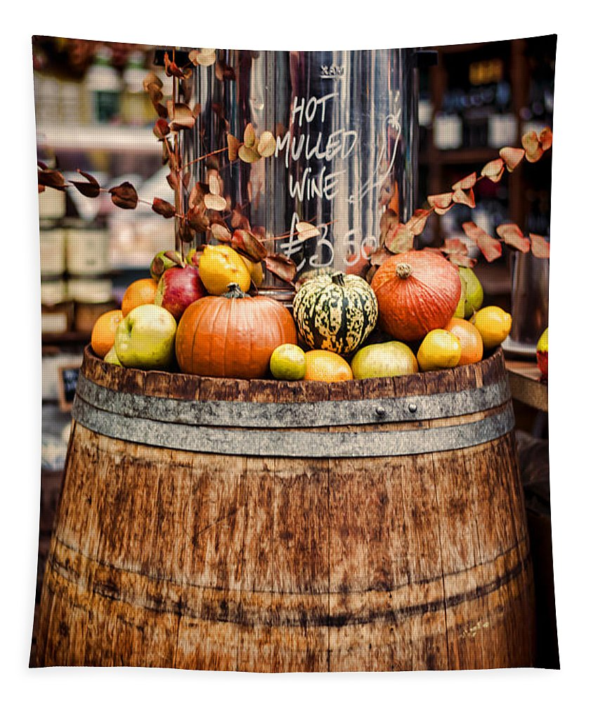 Mulled Wine Tapestry featuring the photograph Mulled Wine by Heather Applegate