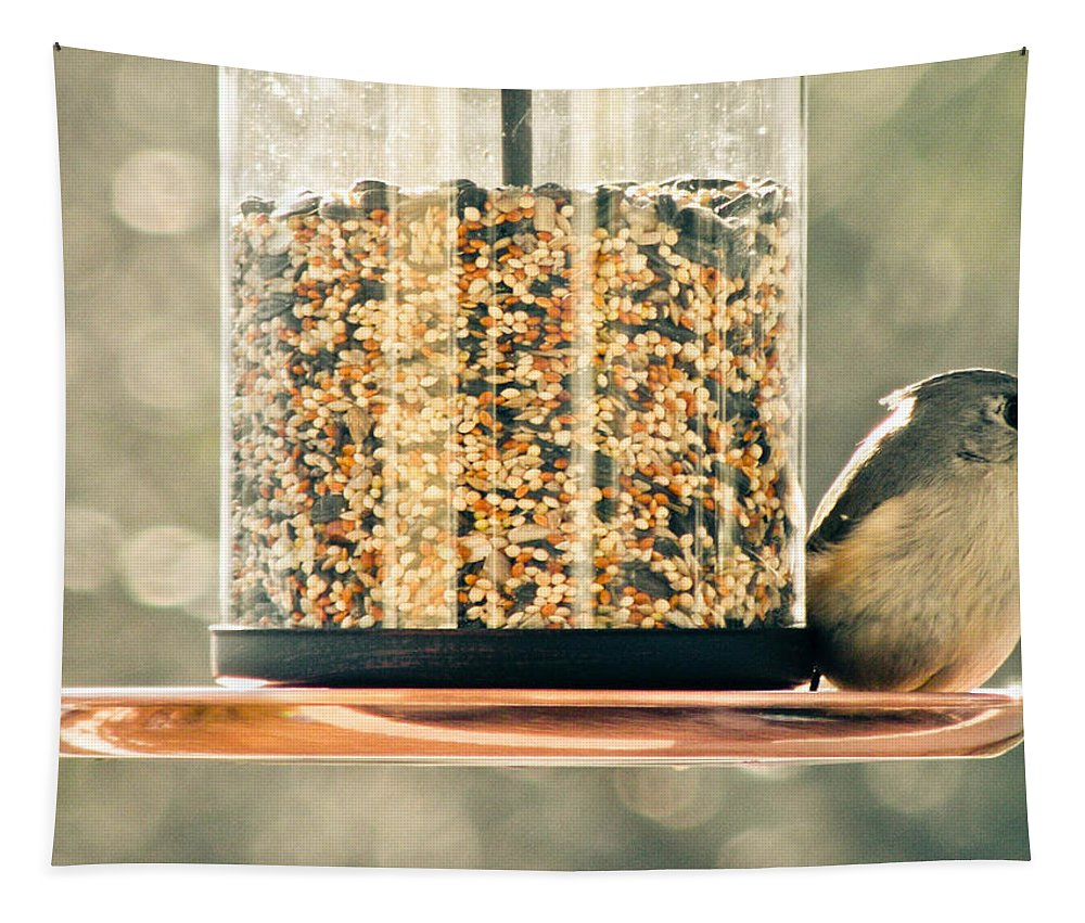 Bird Tapestry featuring the photograph My Lil Chickadee by Trish Tritz