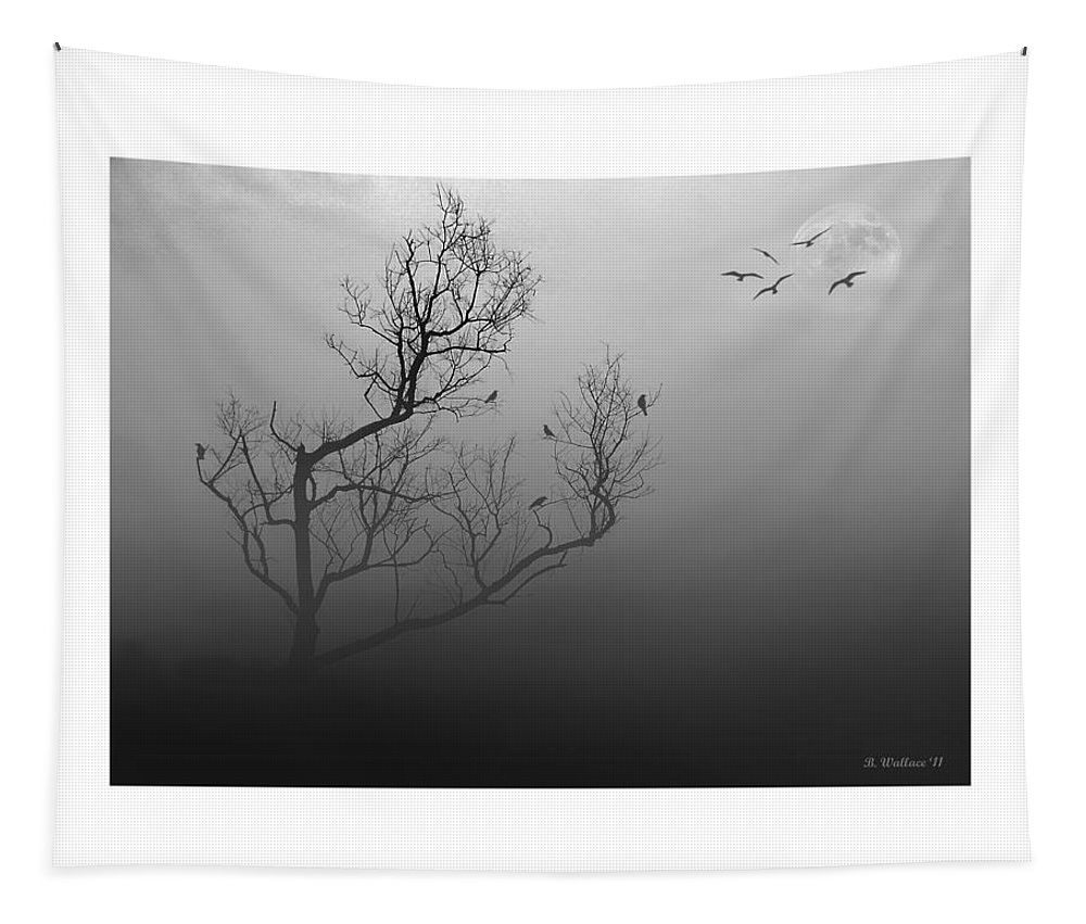 Myst-eerie-us Tapestry featuring the photograph Myst-eerie-us by Brian Wallace