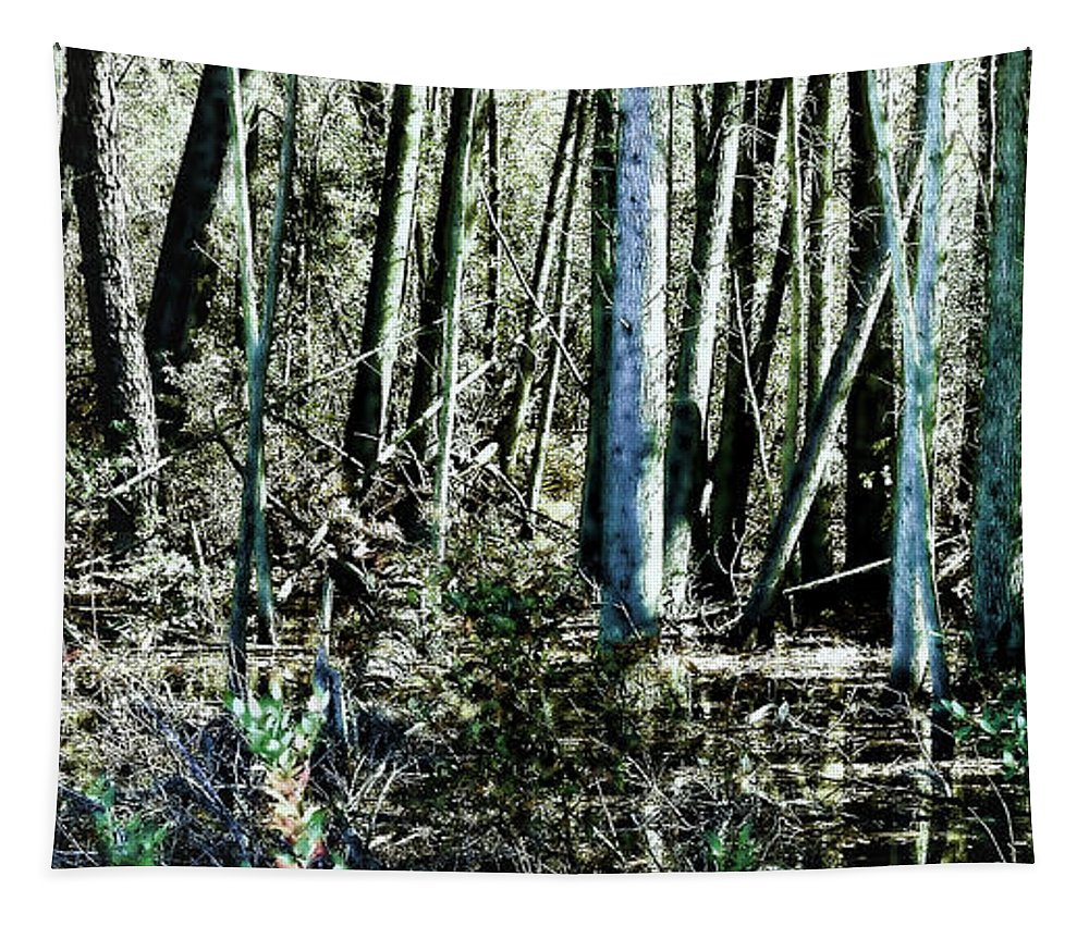 Mystery Tapestry featuring the photograph Mystery Forest by Olivier Le Queinec