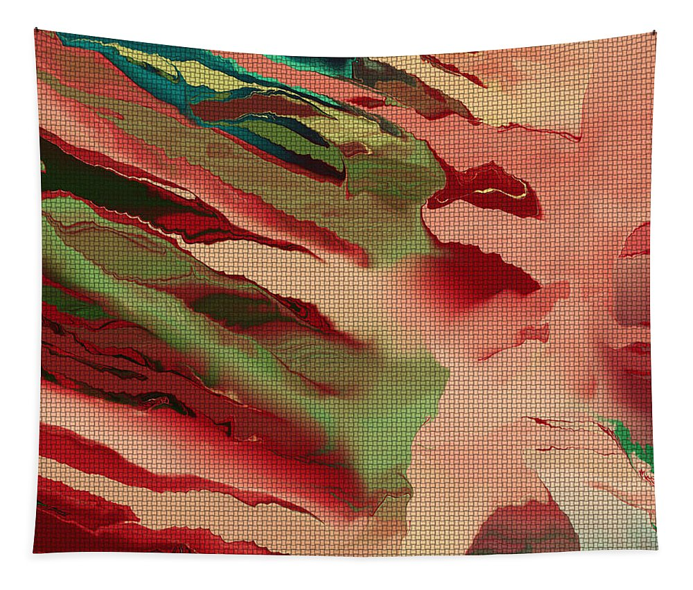 Painted Abstract Tapestry featuring the digital art Native Abstract Weave by Deborah Benoit