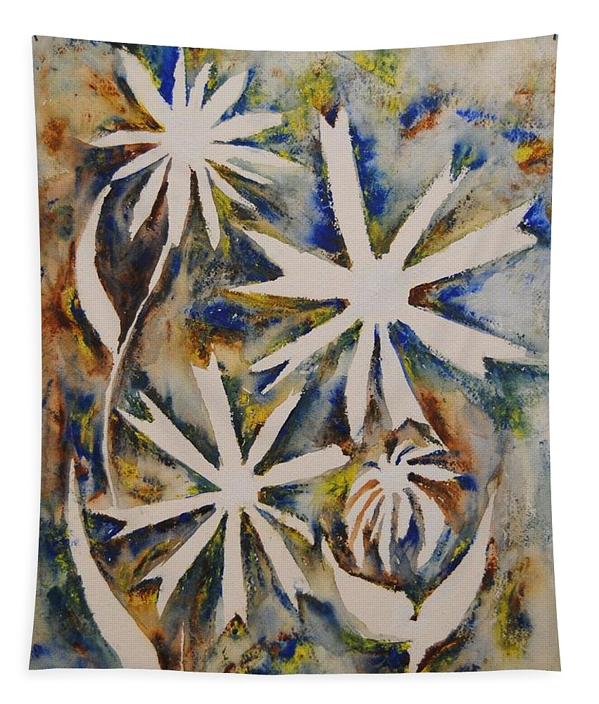 Flowers Tapestry featuring the painting Natural Wonder by Vallee Johnson