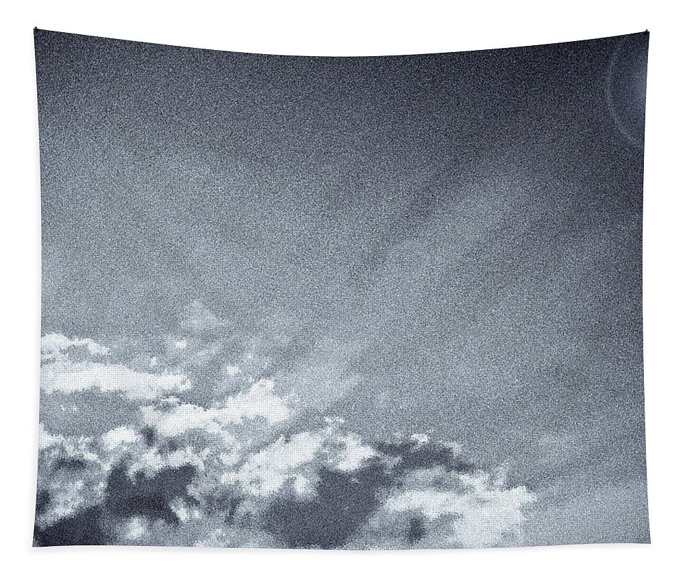 Sky Tapestry featuring the digital art Neptune Sky by David Pyatt