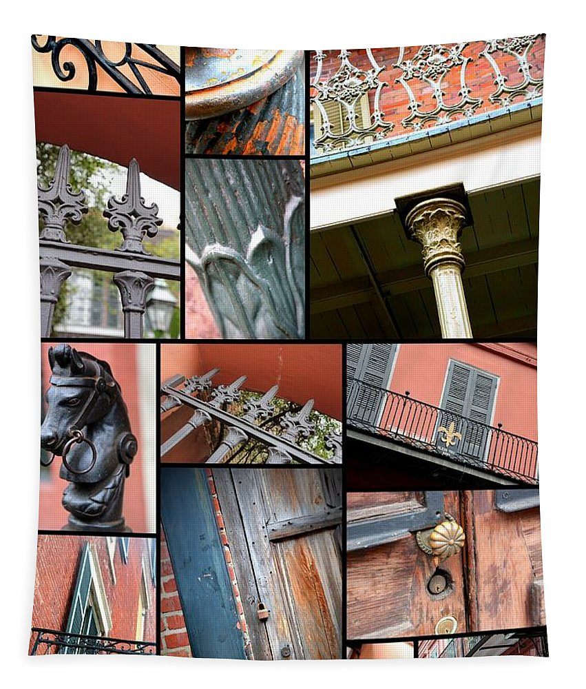 New Orleans Tapestry featuring the photograph New Orleans Collage 1 by Carol Groenen