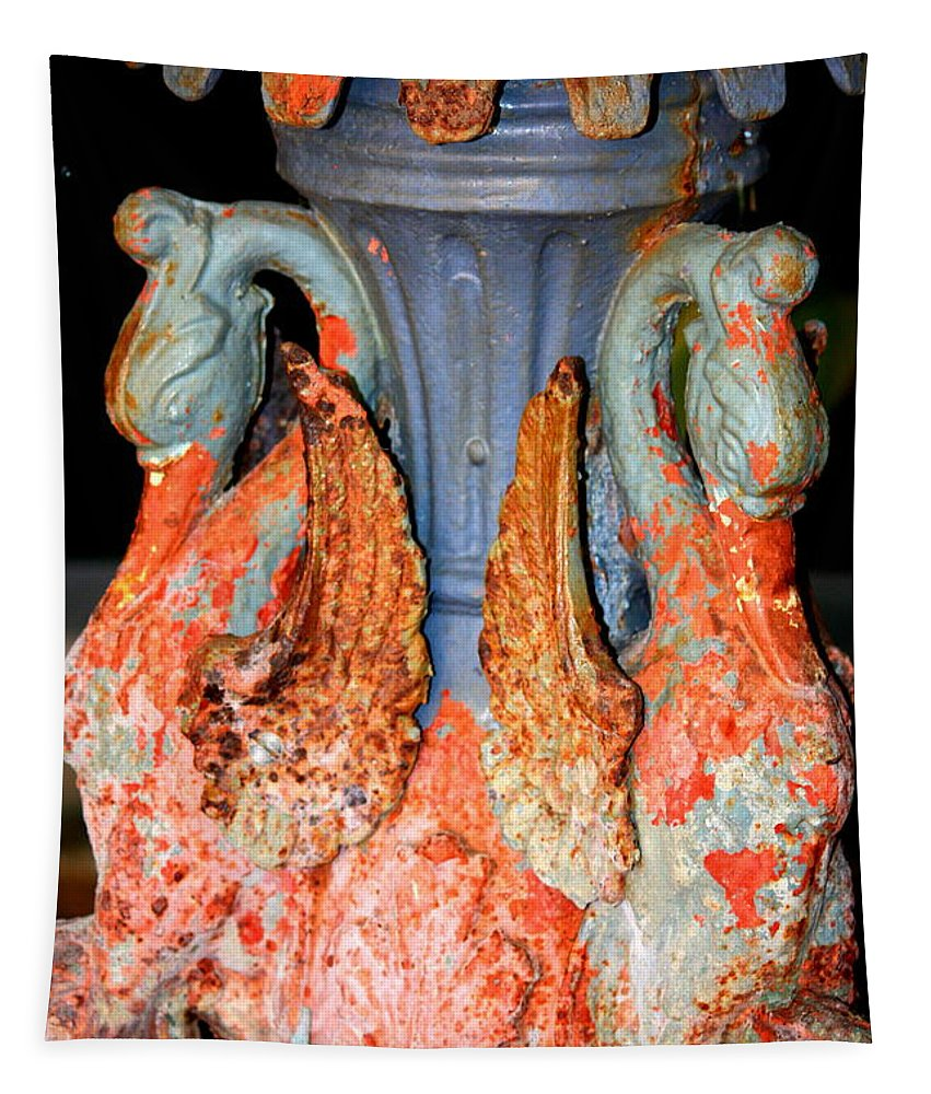 Fountain Tapestry featuring the photograph New Orleans Swan Fountain by Carol Groenen