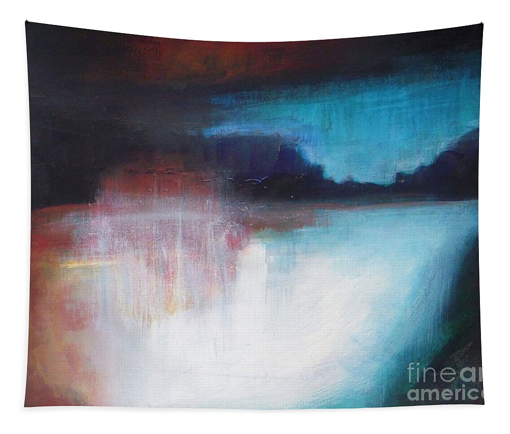 Acrylic Tapestry featuring the painting Niagara Falls by Vesna Antic