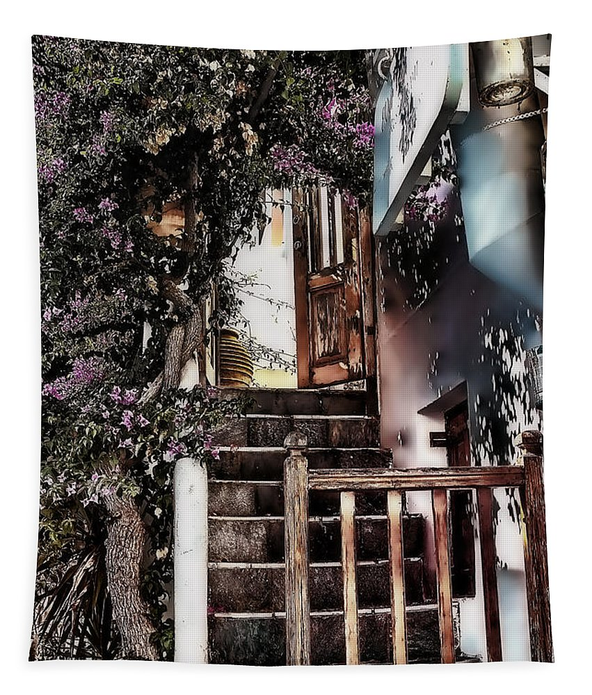 Europe Photo Tapestry featuring the photograph Nine Steps Mykonos Greece by Tom Prendergast