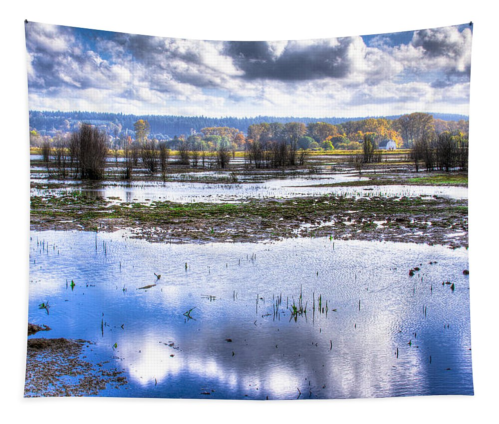 Nisqually Tapestry featuring the photograph Nisqually Wildlife Refuge P13 by David Patterson