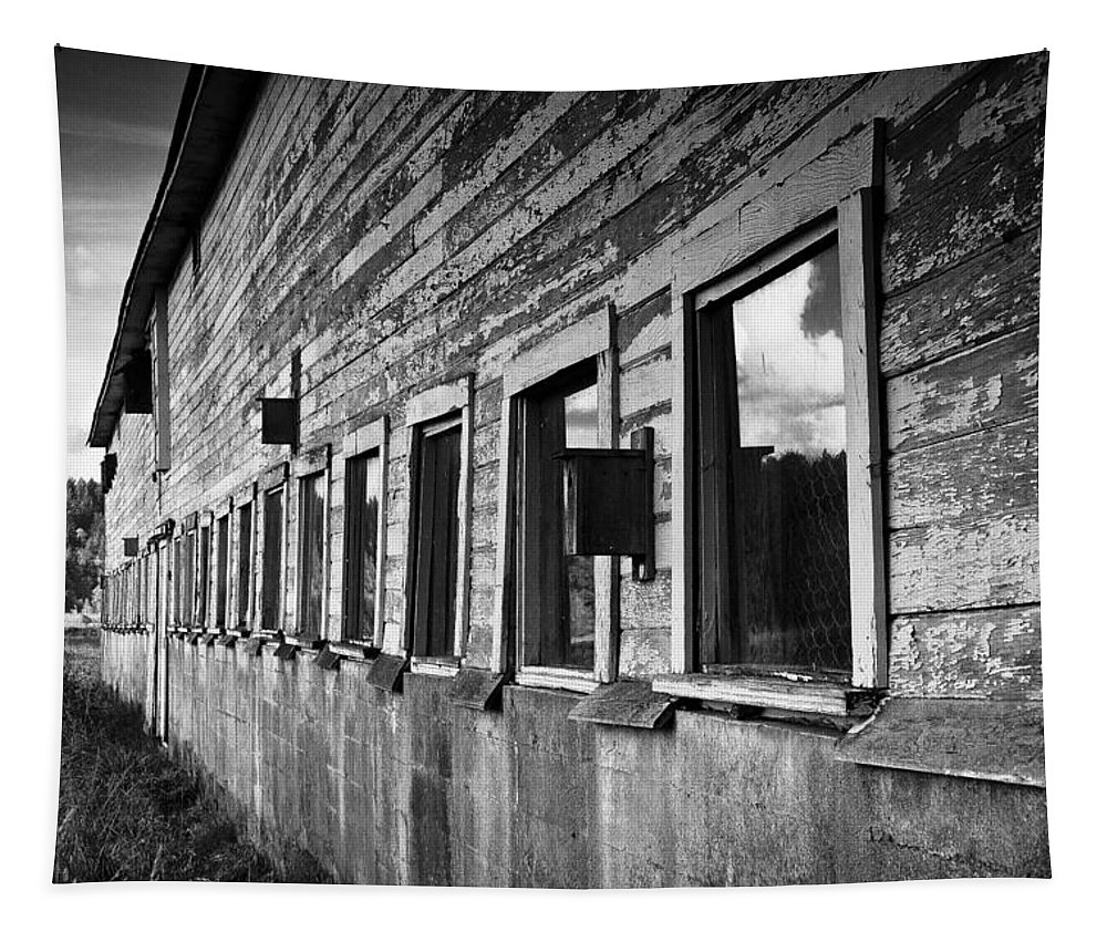 Nisqually Tapestry featuring the photograph Nisqually Wildlife Refuge P18 The Barn II by David Patterson