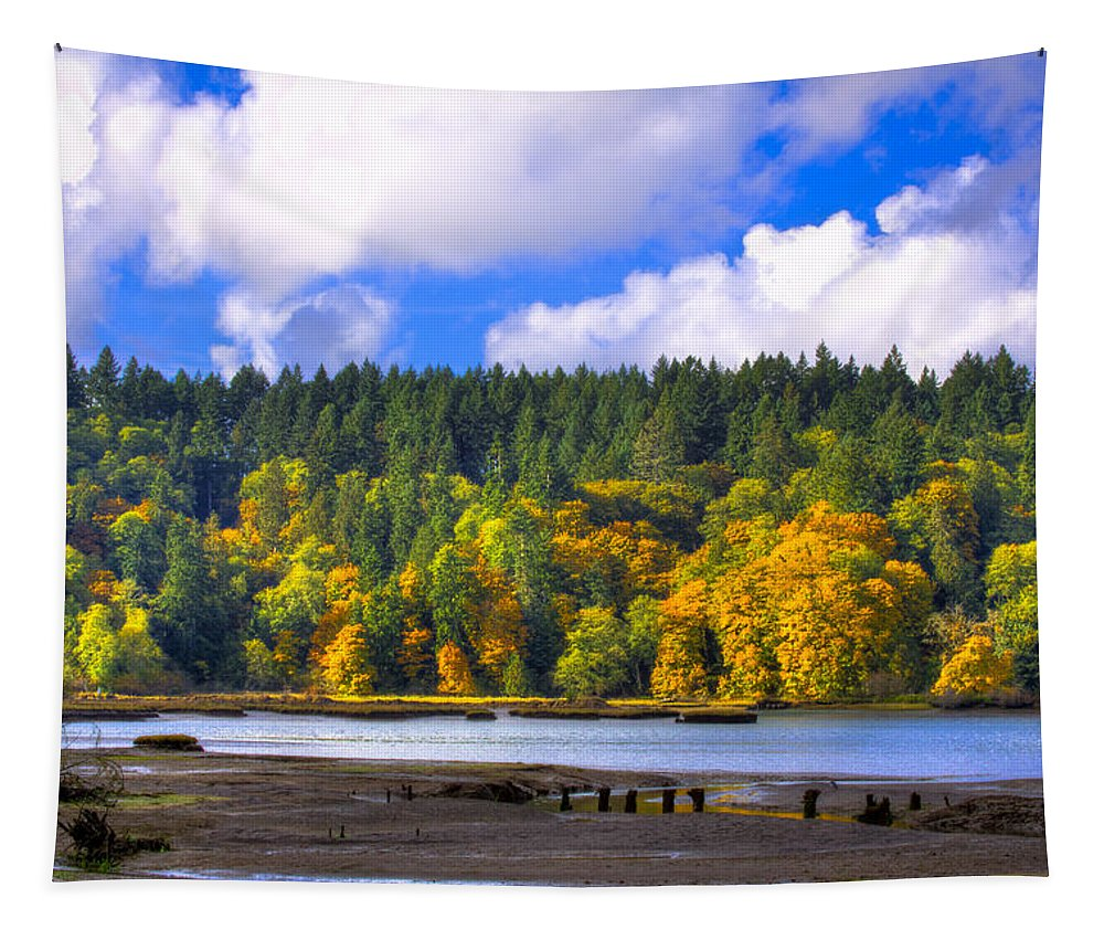 Nisqually Tapestry featuring the photograph Nisqually Wildlife Refuge P24 by David Patterson