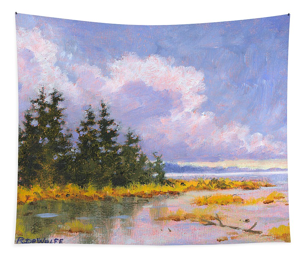 Water Tapestry featuring the painting North Shore by Richard De Wolfe
