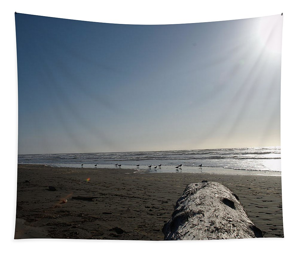Sunset Tapestry featuring the photograph Ocean At Peace by Michael Merry