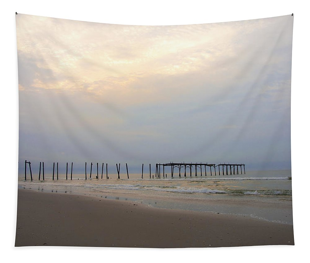 Ocean City 59th Street Pier Tapestry featuring the photograph Ocean City by Bill Cannon