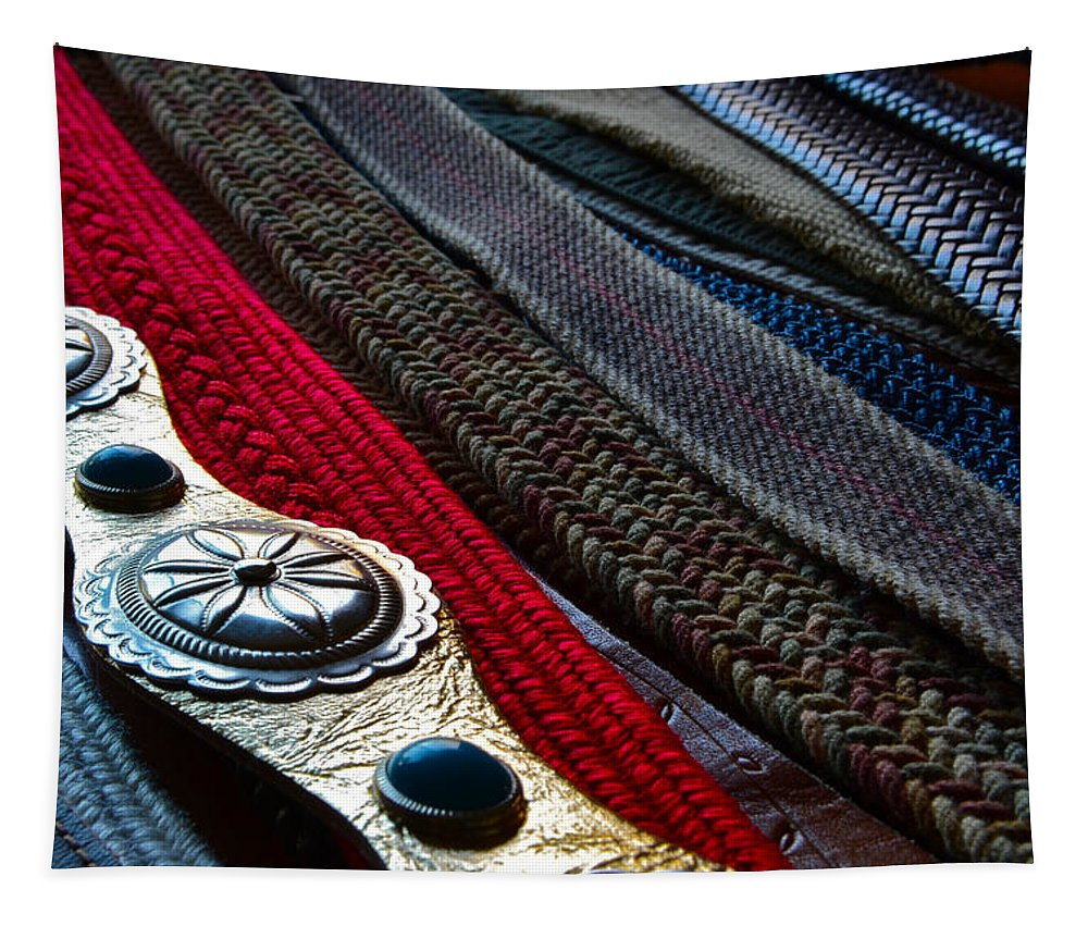 Old Belts Tapestry featuring the photograph Old Belts 2 by Bill Owen