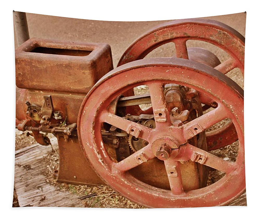 Farm Equipment Tapestry featuring the photograph Old Pump by Bill Owen