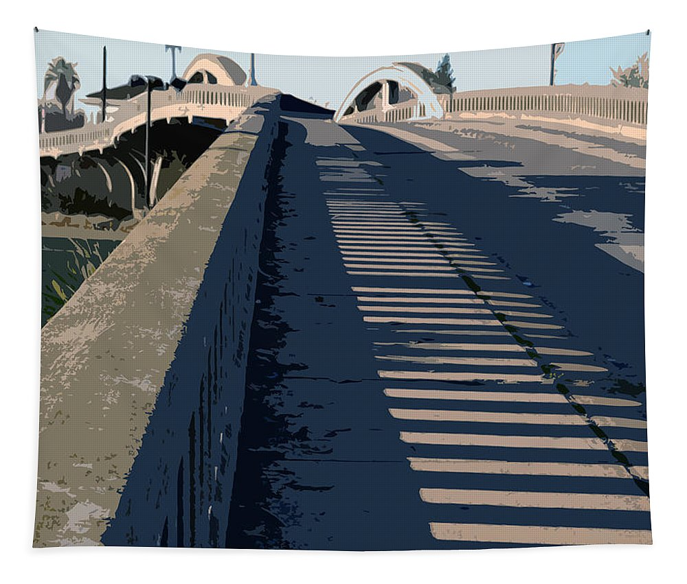 Roseville California Tapestry featuring the photograph Old Roseville Bridge by Bill Owen