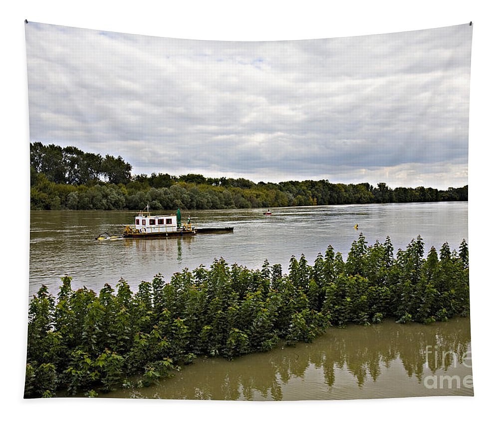 Danube Tapestry featuring the photograph On The Danube by Madeline Ellis
