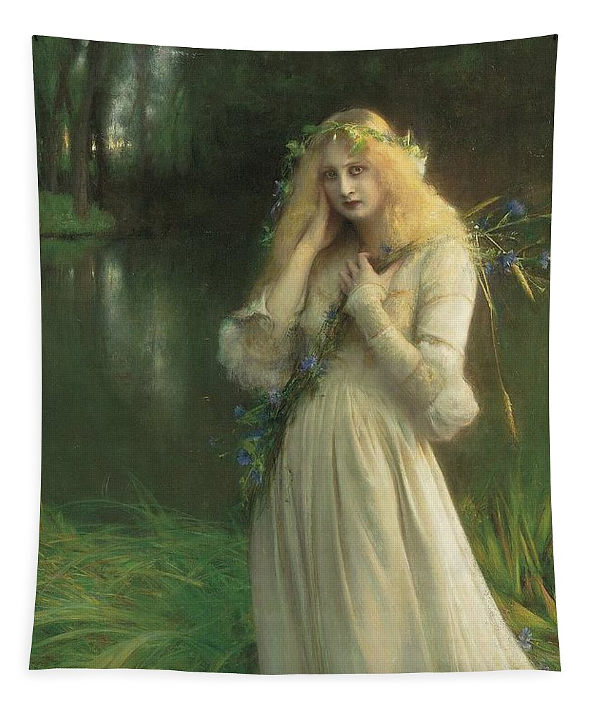 Ophelia Tapestry featuring the painting Ophelia by Pascal Adolphe Jean Dagnan Bouveret