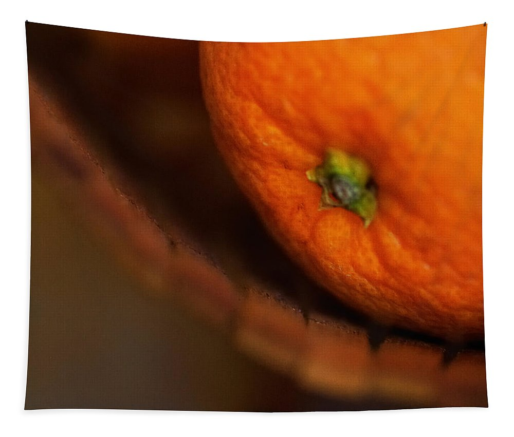 Fruit Tapestry featuring the photograph Orange Sunshine by Susan Capuano