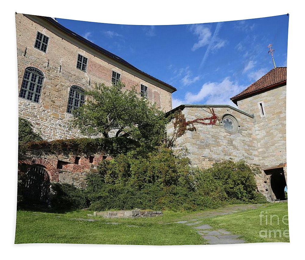 Oslo Tapestry featuring the photograph Oslo Castle - Akershus by Carol Groenen