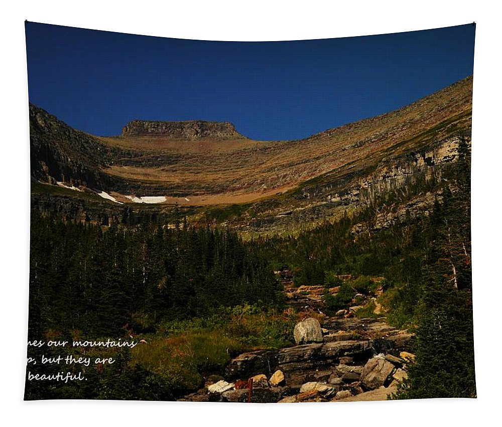 Mountains Tapestry featuring the photograph Our Mountains by Jeff Swan
