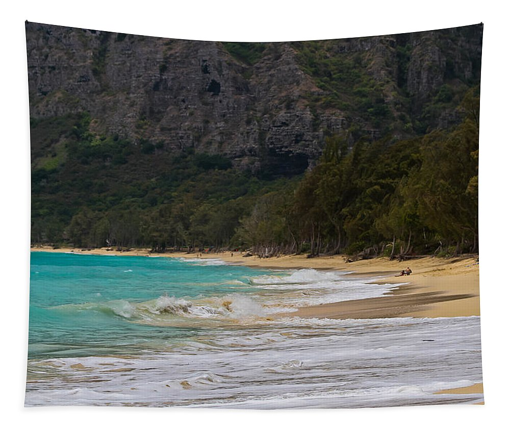 Paradise With A Ocean View Tapestry featuring the photograph Paradise With A Ocean View by Mitch Shindelbower