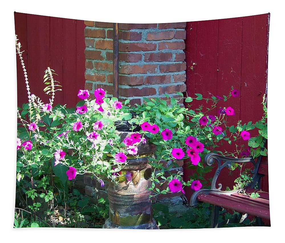 Flowers Tapestry featuring the photograph Peaceful Retreat by Linda Francis
