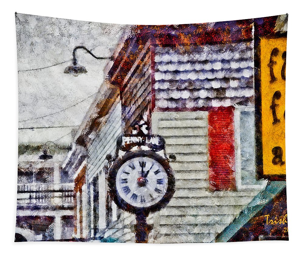 Rehoboth Beach Tapestry featuring the photograph Penny Lane by Trish Tritz