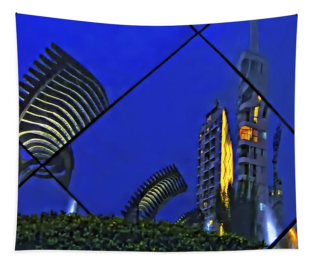 Reflection Tapestry featuring the photograph Peruvian Nights by Steve Harrington