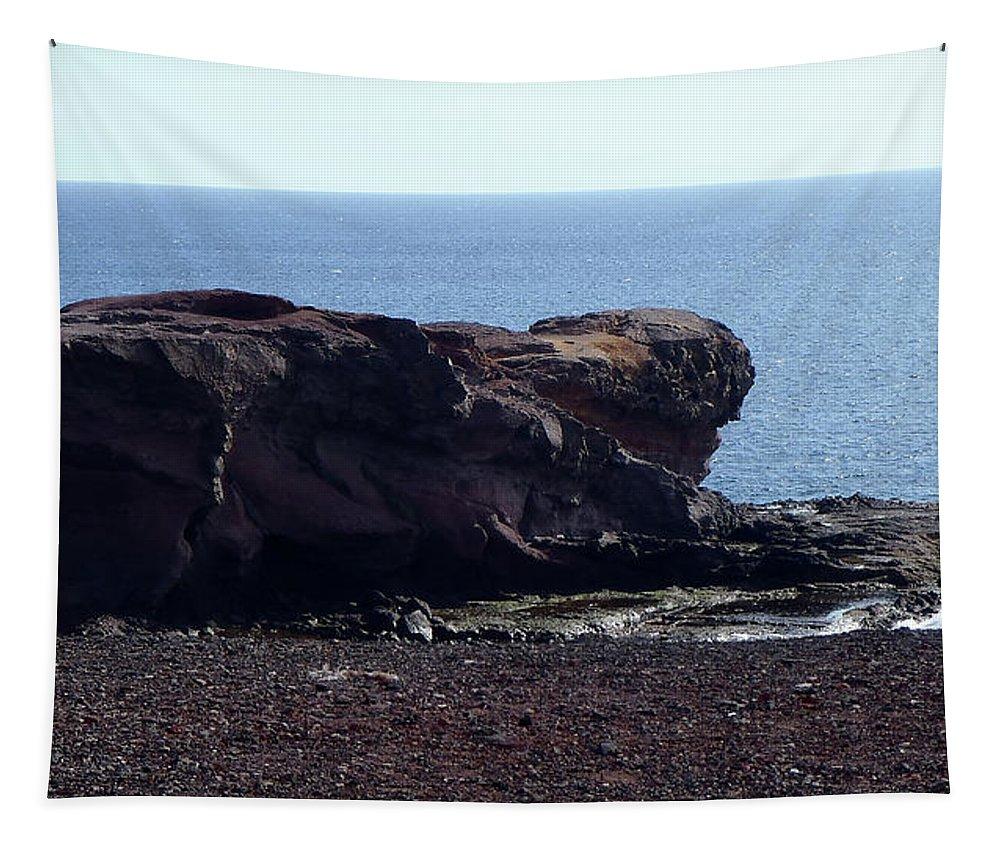 Lehtokukka Tapestry featuring the photograph Playa Blanca by Kukka Lehto