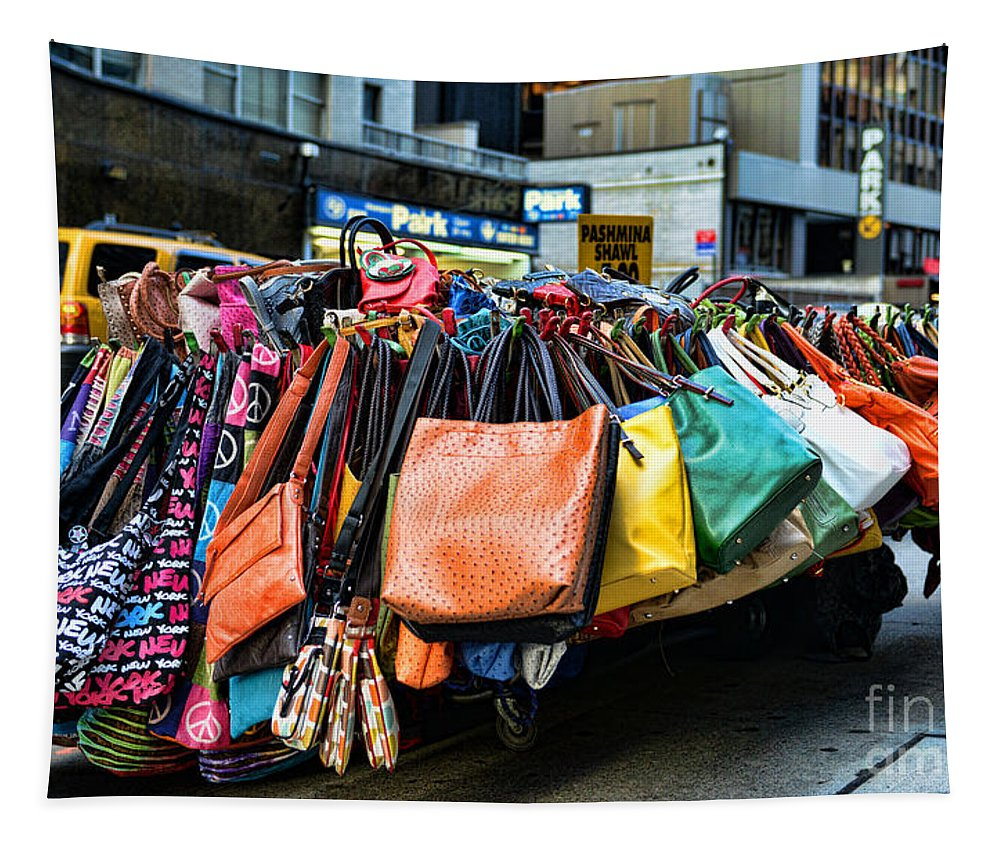 Pocketbooks And Purses Tapestry featuring the photograph Pocketbooks And Purses by Paul Ward