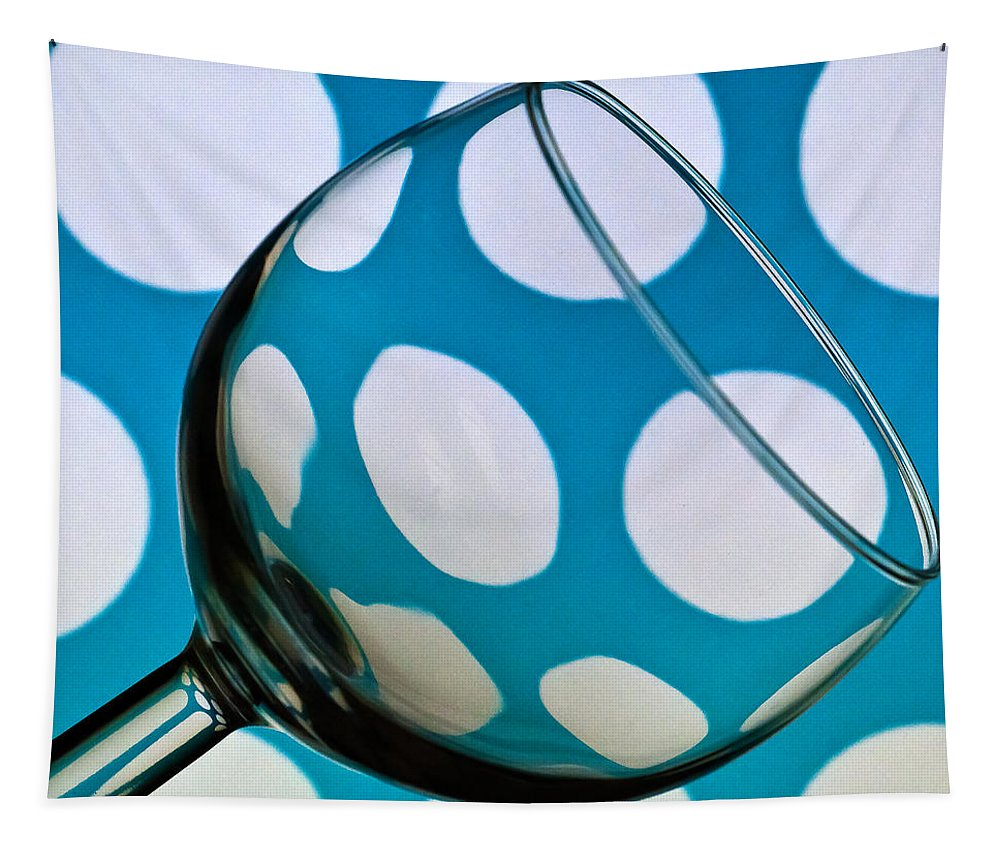Polka Dots Tapestry featuring the photograph Polka Dot Glass by Steve Purnell