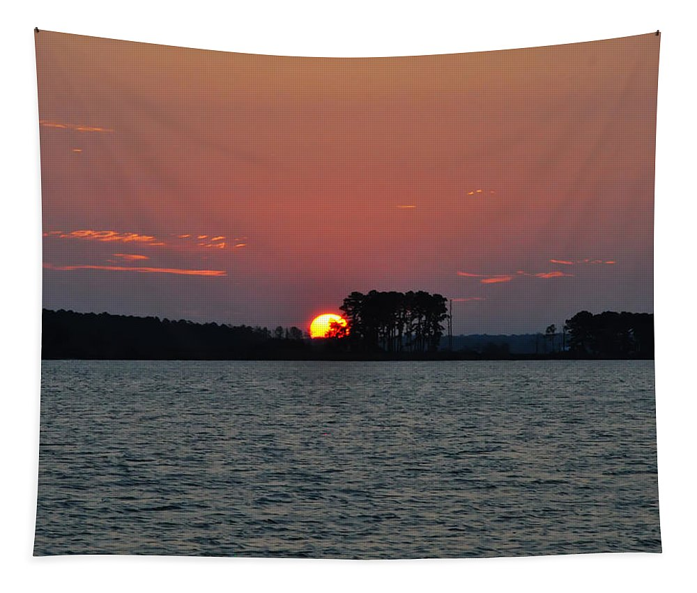 Potomac Sunrise Tapestry featuring the photograph Potomac Sunrise by Bill Cannon