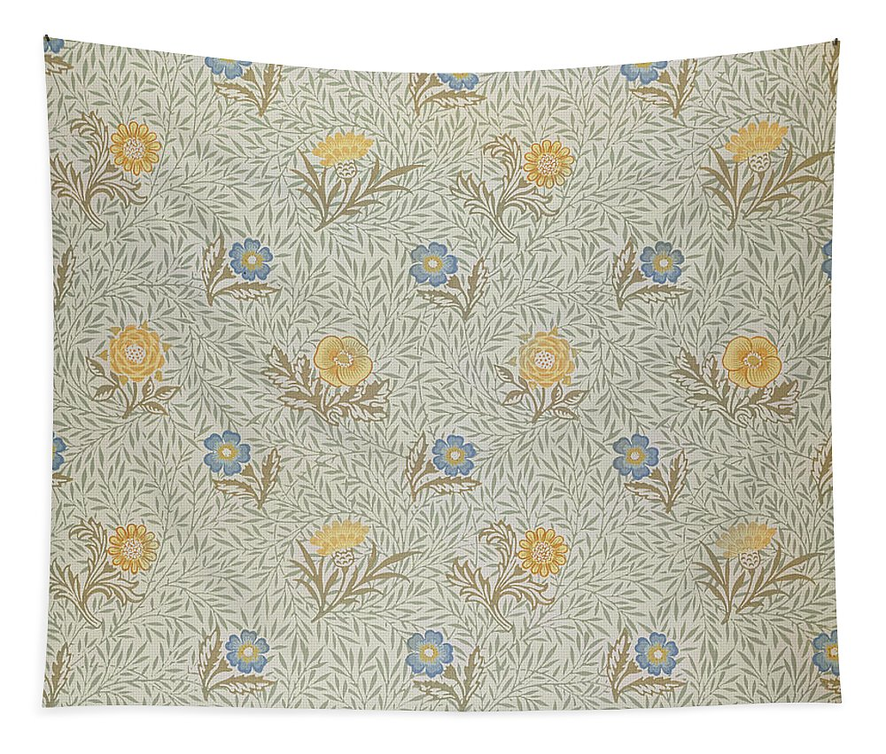 Arts And Crafts Movement; Floral; Pattern Tapestry featuring the tapestry - textile Powdered by Wiliam Morris
