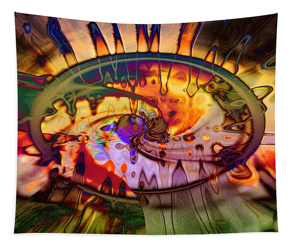 Psychedelic Tapestry featuring the digital art Psychedelic Daze by Linda Sannuti