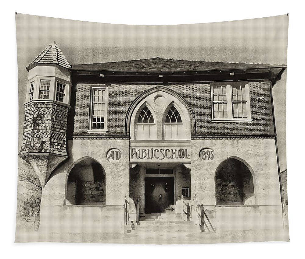 Bluebell Tapestry featuring the photograph Public School by Bill Cannon