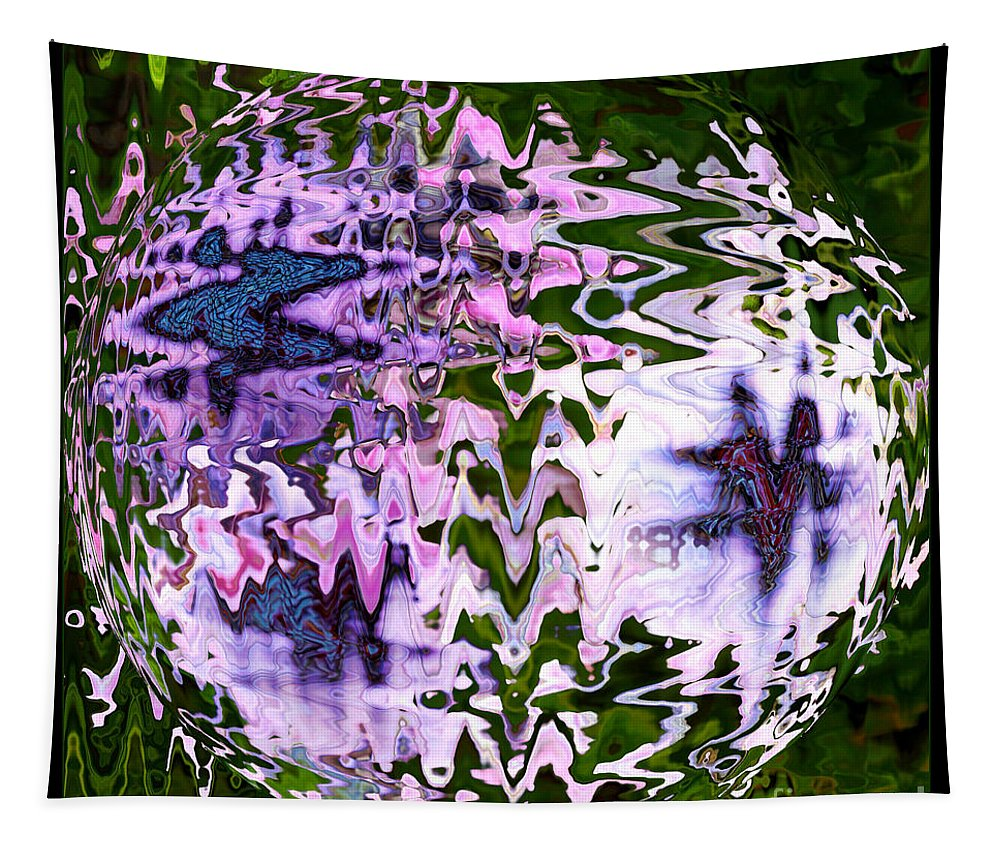 Abstract Tapestry featuring the photograph Purple Daisies World - Abstract Art by Carol Groenen