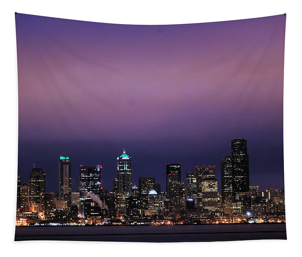 Seattle Tapestry featuring the photograph Purple Haze by Michael Merry