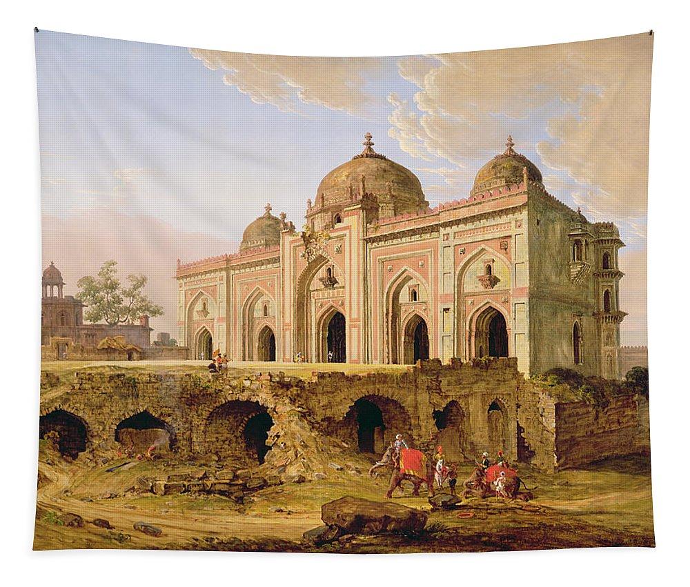 Xyc174456 Tapestry featuring the photograph Qal' A-l-kuhna Masjid - Purana Qila by Robert Smith