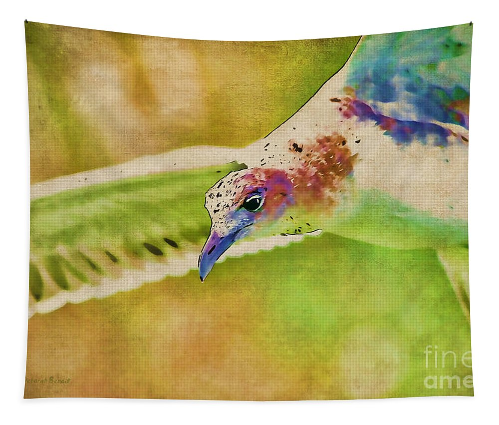 Seagull Tapestry featuring the photograph Rainbow Seagull by Deborah Benoit