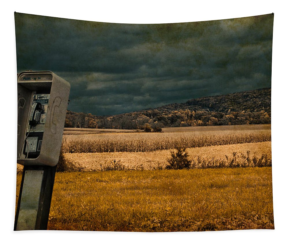 Phone Tapestry featuring the photograph Random Phonebooth by Trish Tritz