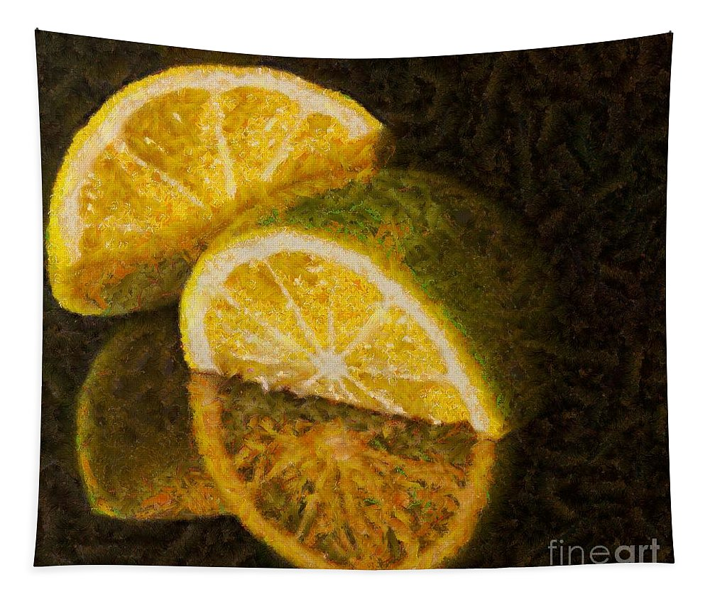 Refreshing Drink Tapestry featuring the painting Ready For Gingerino by Dragica Micki Fortuna