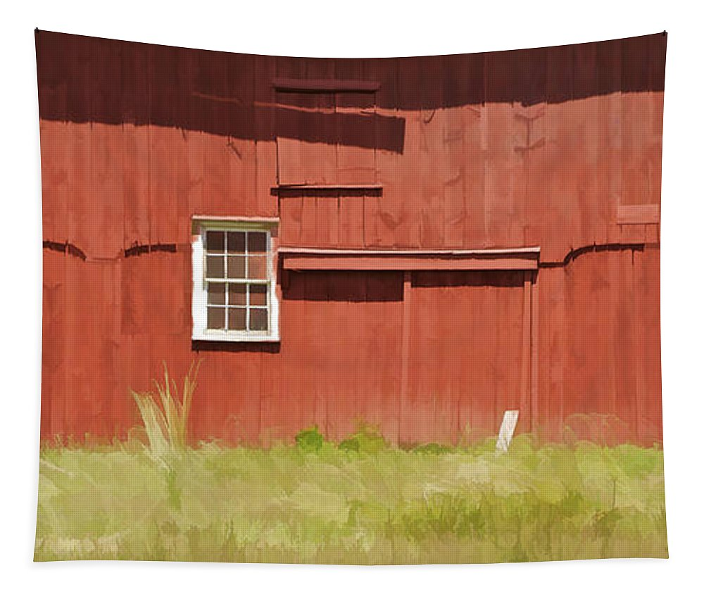 Americana Tapestry featuring the photograph Red Barn Of New Jersey by David Letts
