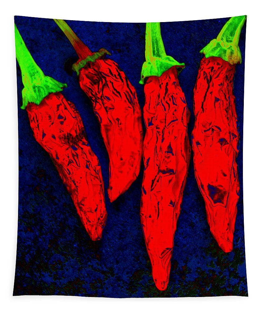 Chili Tapestry featuring the photograph Red Hot Chili by Stephen Anderson