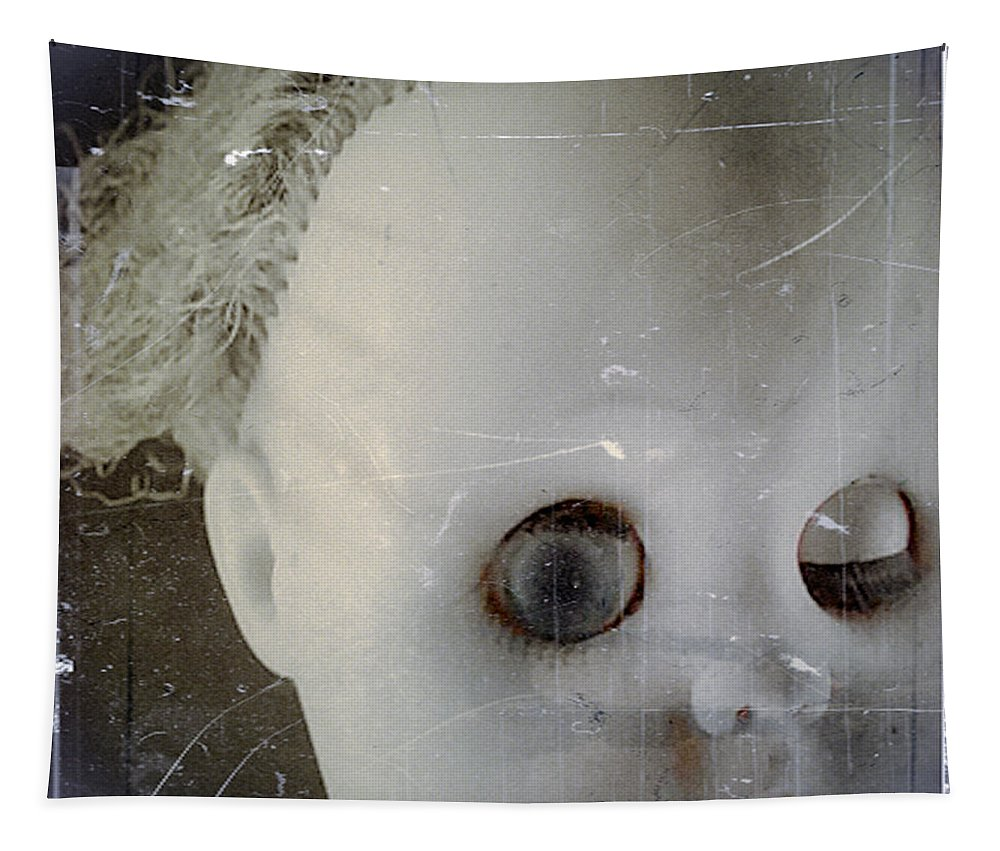 Doll Tapestry featuring the photograph Red Lips by Gothicrow Images