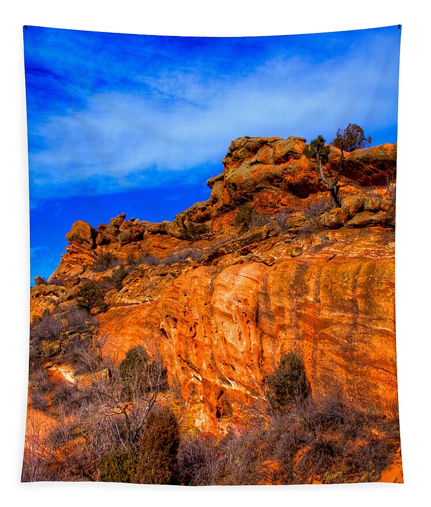 Red Rocks Tapestry featuring the photograph Red Rocks Park Colorado IIi by David Patterson