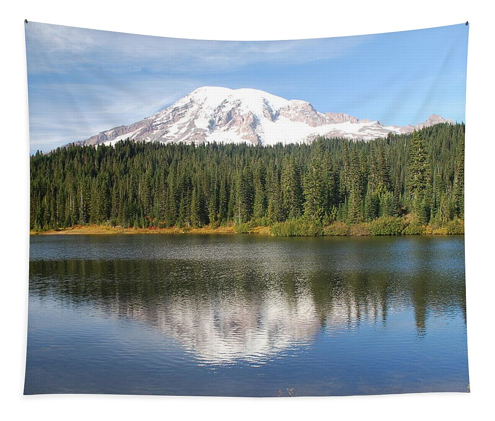 Rainier Tapestry featuring the photograph Reflection Lake - Mt. Rainier by Michael Merry
